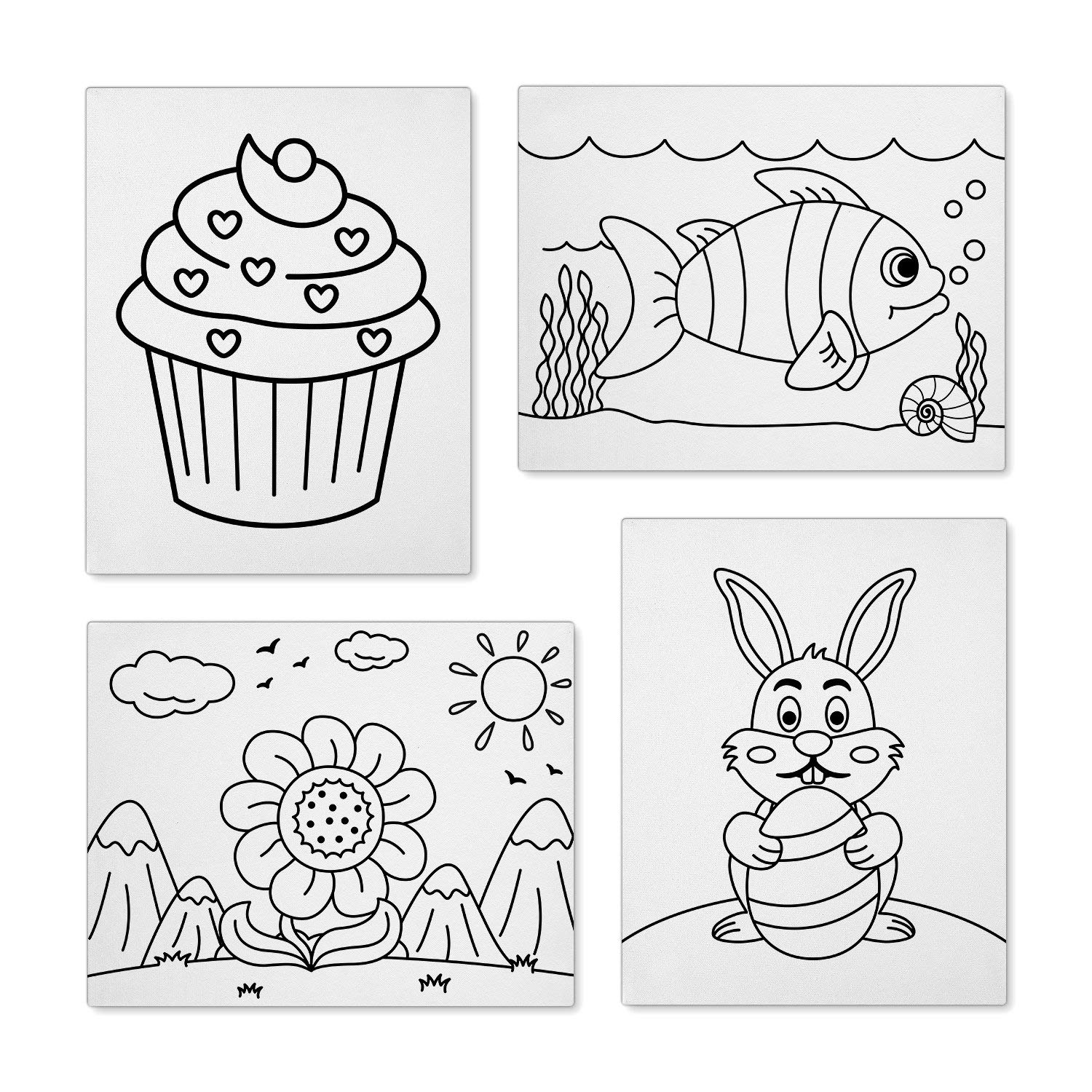 Canvasify Pre Printed Canvas Boards - Ready to Paint